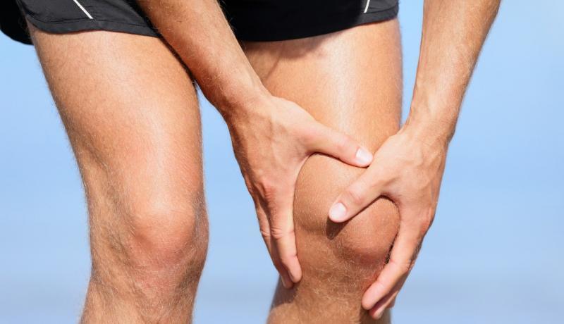 holding knee